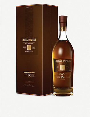 GLENMORANGIE: Extremely Rare 18 year-old highland single-malt Scotch whisky 700ml