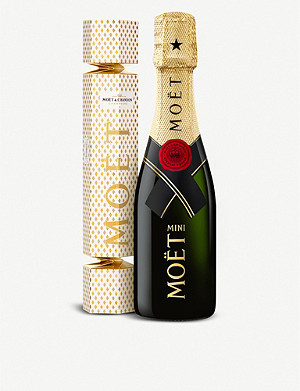 MOET & CHANDON Brut Imperial champagne Christmas cracker 200ml