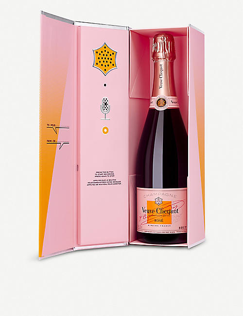 VEUVE CLICQUOT Clicquot Rosé Champagne 750ml (with presentation case to record your own message)