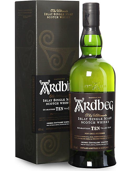 ARDBEG: 10-year-old single malt Scotch whisky 700ml
