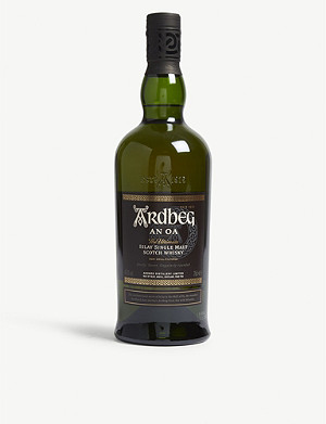 WHISKY AND BOURBON Ardbeg An Oa single malt Scotch whisky 700ml