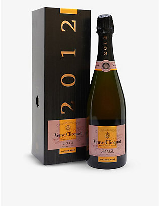 VEUVE CLICQUOT: Rose Brut 2012 rosé champagne giftbox 750ml