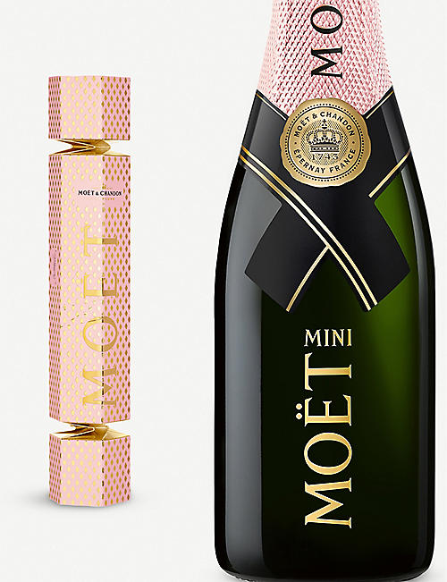MOET & CHANDON Rosé Imperial champagne Christmas cracker 200ml