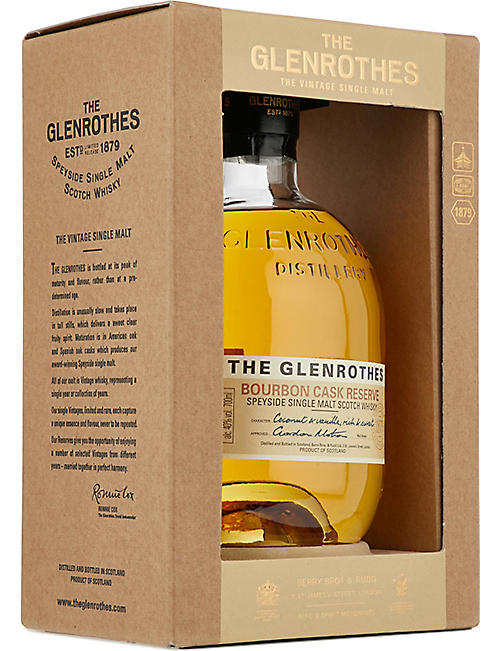 SPEYSIDE The Glenrothes Bourbon Cask Reserve single malt scotch whisky 700ml