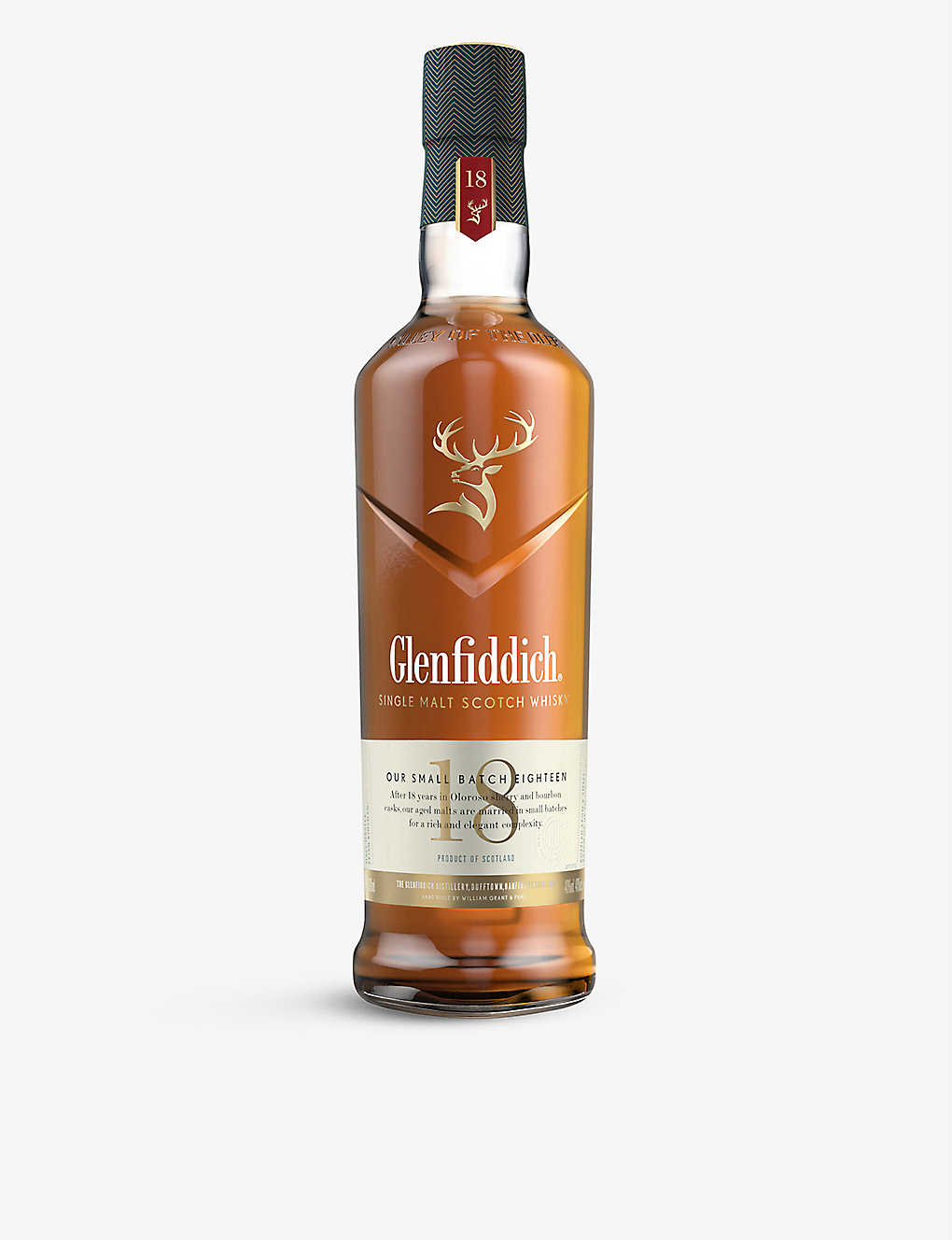 GLENFIDDICH: 18-Year-Old single malt whisky 700ml