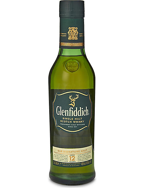 GLENFIDDICH: 12-year-old single malt Scotch whisky 350ml
