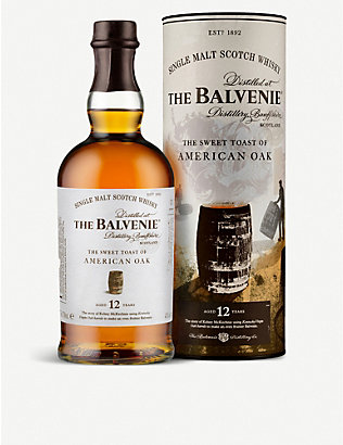 BALVENIE: The Sweet Toast of American Oak 12-year-old single malt Scotch whisky 700ml