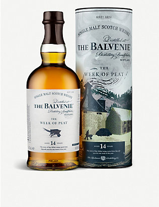BALVENIE: The Week of Peat 14-year-old single malt Scotch whisky 700ml