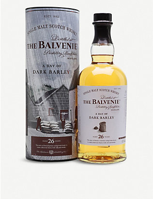 BALVENIE: The Balvenie A Day of Dark Barley 26-year-old single malt Scotch whisky 700ml