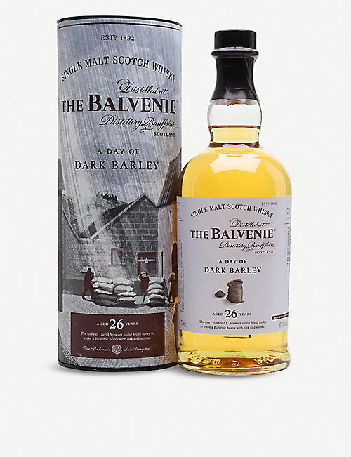 BALVENIE The Balvenie A Day of Dark Barley 26-year-old single malt Scotch whisky 700ml