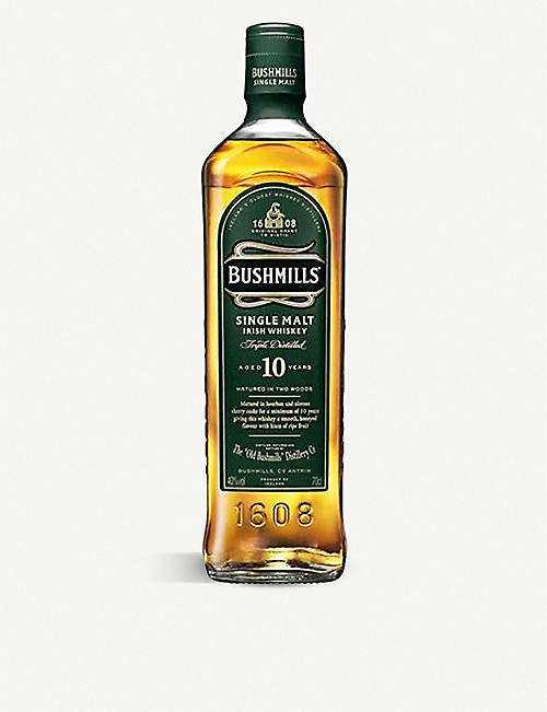 BUSHMILLS: 10-Year-Old single malt whisky giftbox 700ml