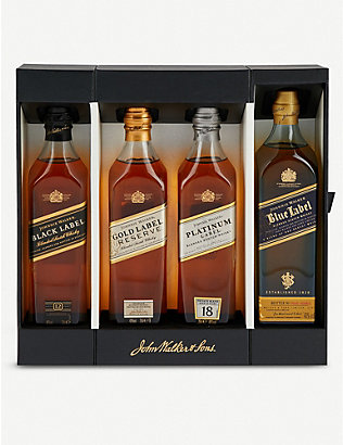 JOHNNIE WALKER: Whiskey collection set of four