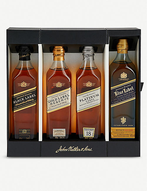 JOHNNIE WALKER Whiskey collection set of four