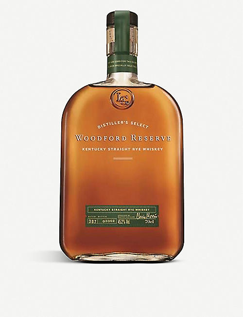 WOODFORD: Kentucky straight rye whiskey 700ml