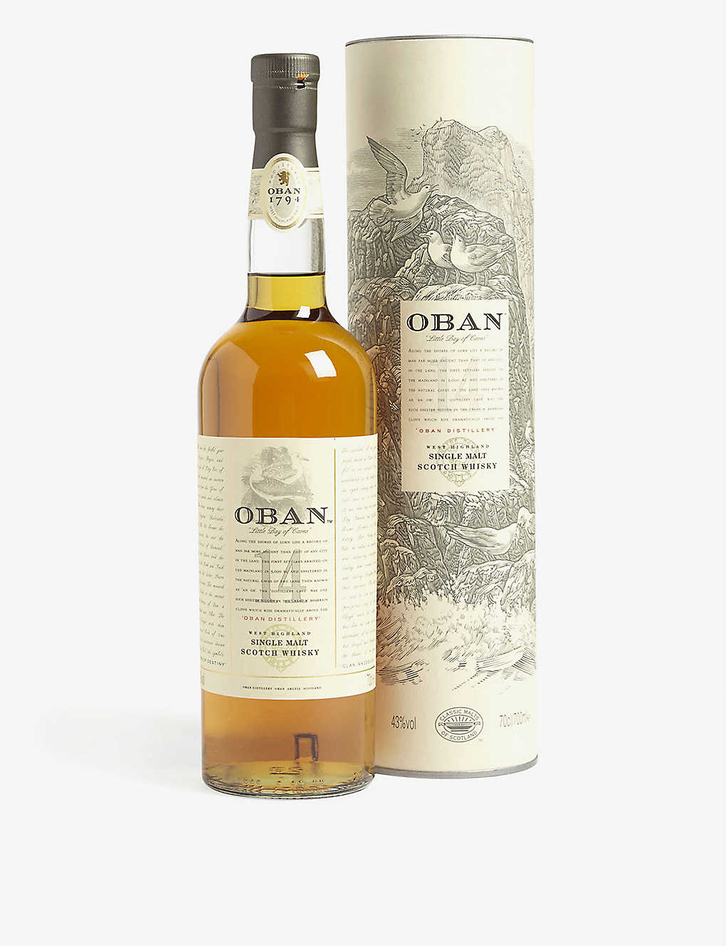 HIGHLAND: Oban 14-year-old single malt Scotch whisky 700ml