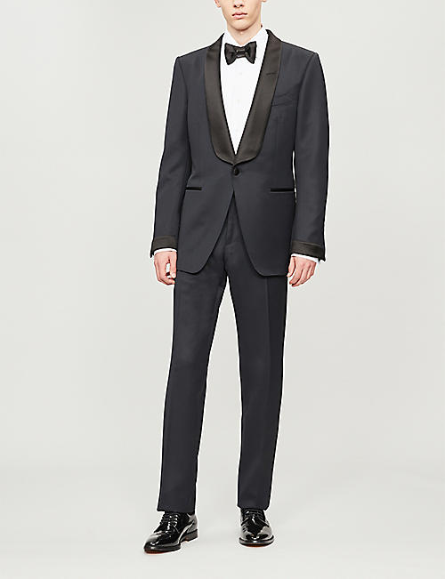TOM FORD Shawl-lapel O'Connor-fit wool and mohair-blend tuxedo
