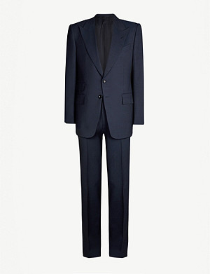 TOM FORD Shelton-fit Prince of Wales checked wool-blend suit