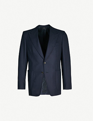 TOM FORD Shelton-fit wool and mohair-blend blazer