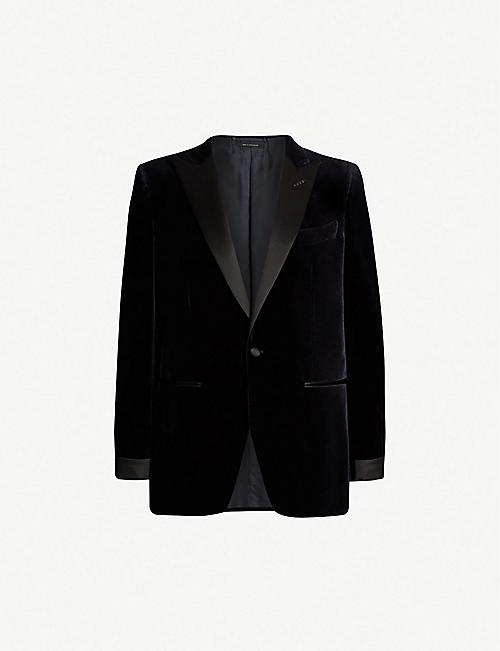 7054289627a TOM FORD O Connor-fit velvet tuxedo jacket