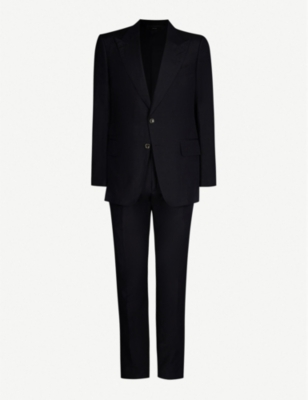 TOM FORD Single-breasted Shelton-fit silk and linen-blend suit