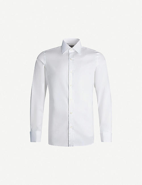 TOM FORD Classic-fit cotton-poplin shirt