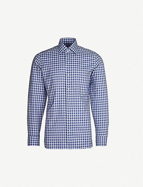 29a77fda0ca TOM FORD Checked slim-fit cotton shirt