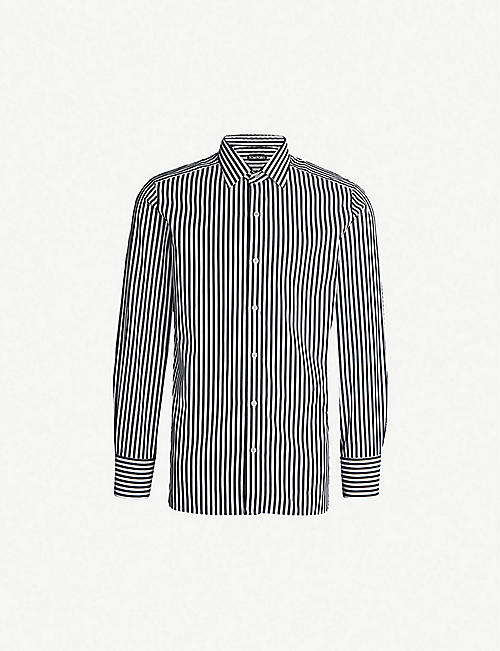 706131b23d9b TOM FORD Striped regular-fit cotton shirt