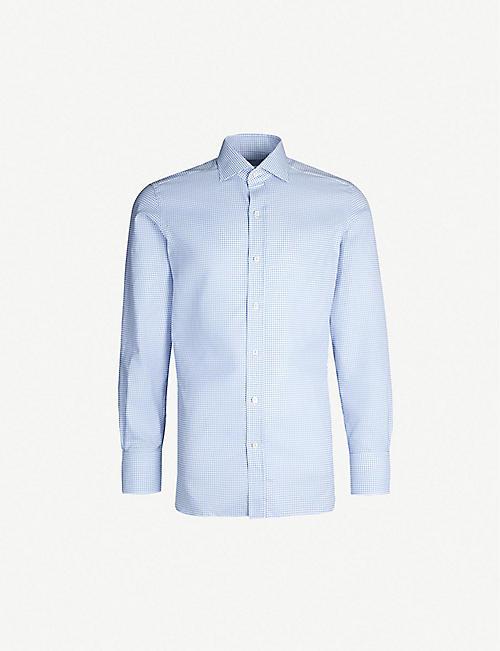 b04d118575e TOM FORD Houndstooth regular-fit cotton shirt