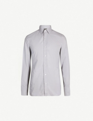 TOM FORD Checked slim-fit cotton shirt
