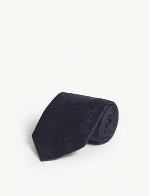 TOM FORD Large spot print silk tie