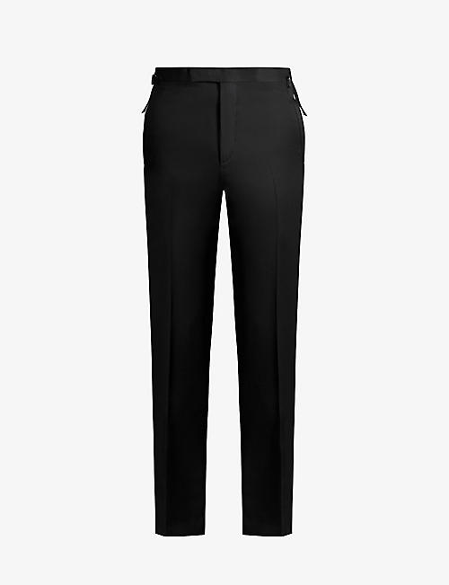 TOM FORD: Brinsley-fit straight wool and mohair-blend trousers
