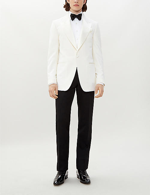 TOM FORD Shelton-fit wool and mohair-blend tuxedo jacket