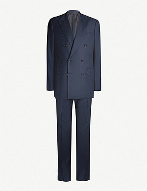 TOM FORD Double-breasted Shelton-fit wool suit