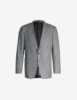 TOM FORD Dogtooth Shelton-fit wool blazer