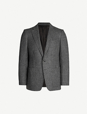 TOM FORD Checked O'Connor-fit stretch-wool and cashmere-blend blazer