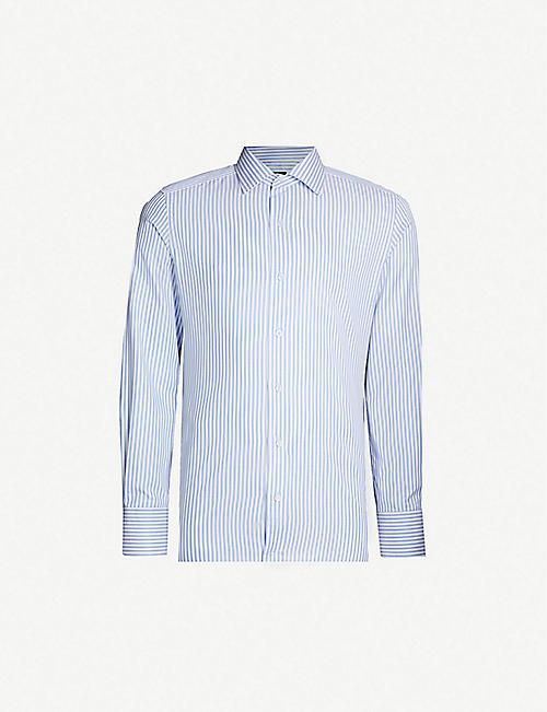 a6cf30d86 TOM FORD Striped regular-fit cotton shirt
