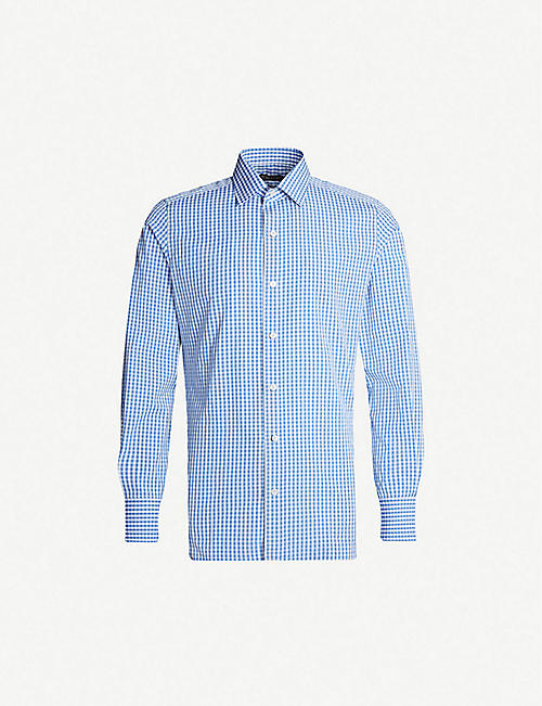 TOM FORD Gingham slim-fit cotton shirt