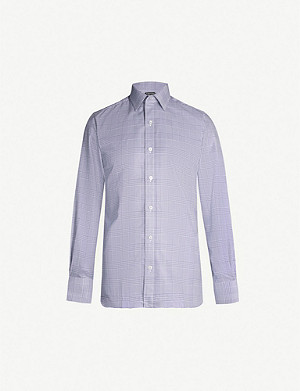 TOM FORD Dogtooth regular-fit cotton shirt