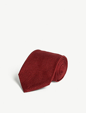 TOM FORD Textured mini-square silk-blend tie