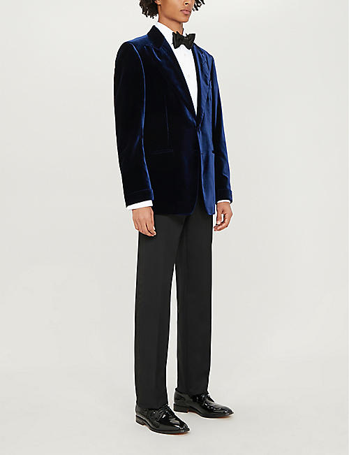 TOM FORD Single-breasted slim-fit velvet tuxedo jacket