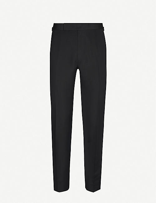 TOM FORD Slim-fit cotton and silk-blend trousers