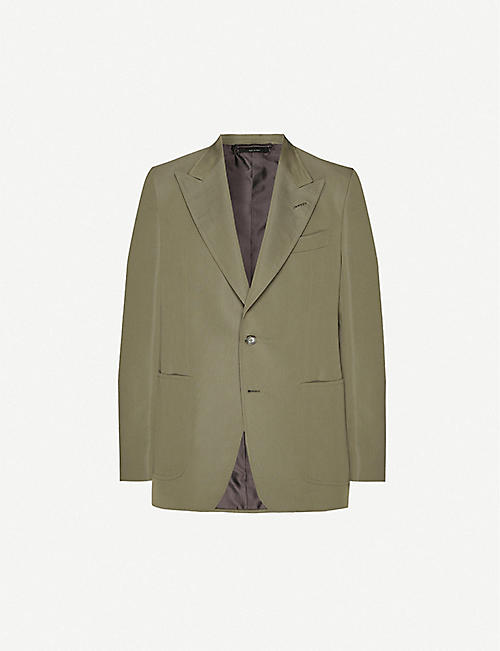 TOM FORD Single-breasted cotton and silk-blend blazer