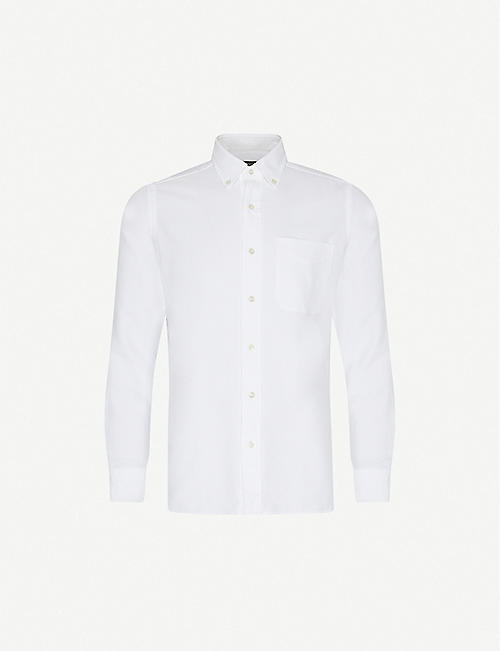 TOM FORD: Oxford regular-fit cotton-twill shirt