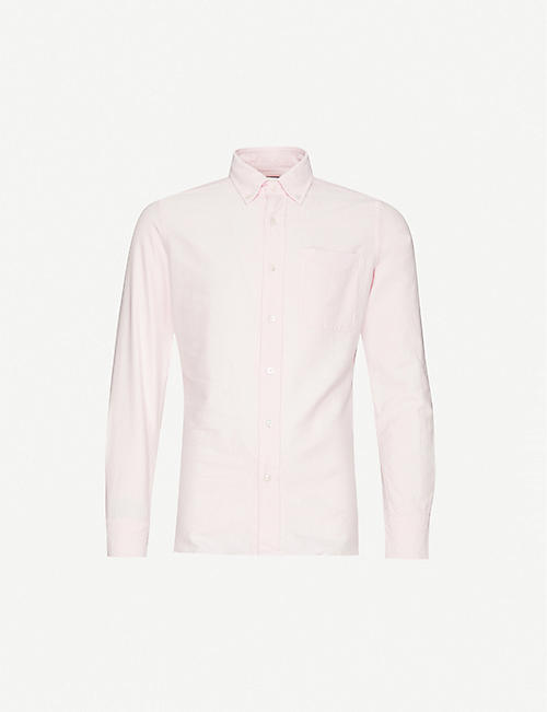 TOM FORD: Patch pocket regular fit oxford-cotton shirt