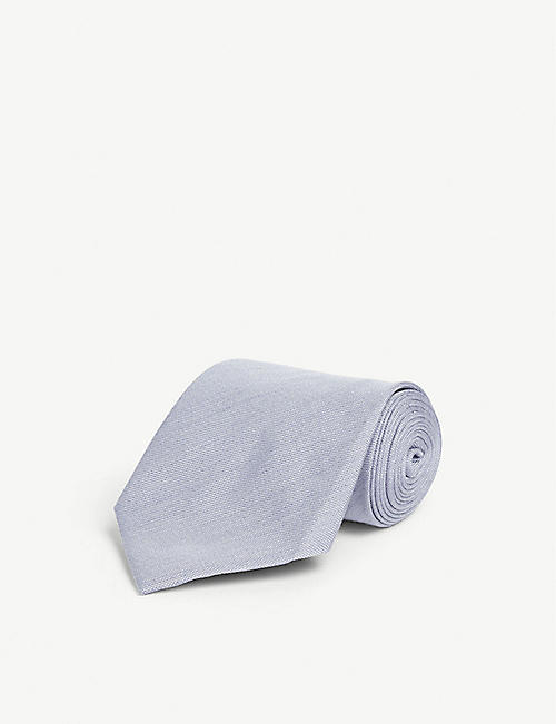 TOM FORD Solid silk-blend tie