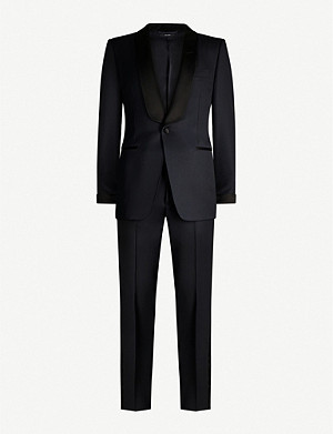 TOM FORD Windsor-fit wool and mohair-blend tuxedo