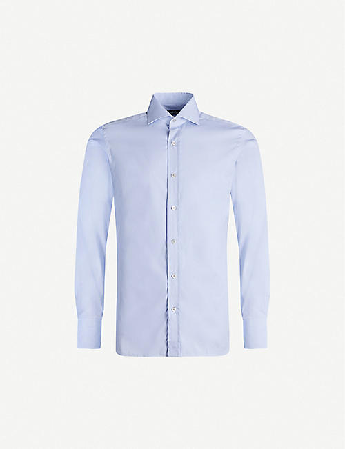 TOM FORD: slim-fit cotton-poplin shirt