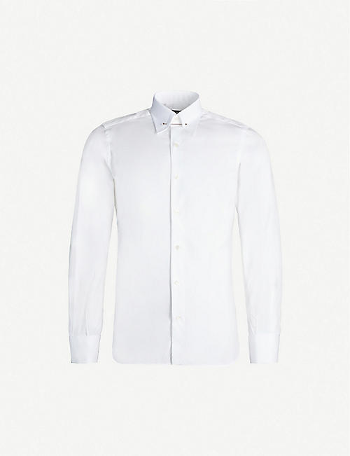 TOM FORD: Regular-fit cotton-poplin shirt