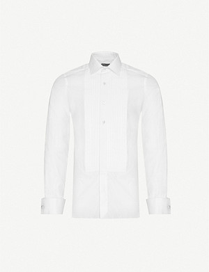 TOM FORD Slim-fit cotton evening shirt