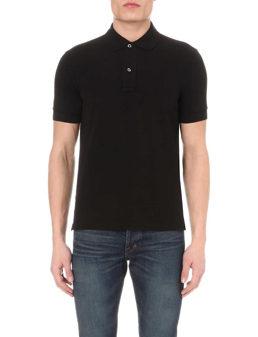 783d943f TOM FORD - Short-sleeved cotton-piqué polo shirt | Selfridges.com